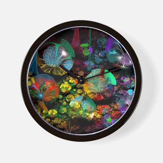 Fractal 3D Bubble Garden Wall Clock