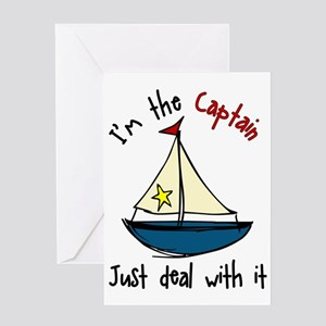 I'm The Captain Greeting Card