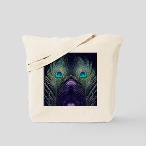 Royal Purple Peacock Tote Bag