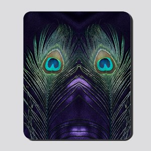 Royal Purple Peacock Mousepad