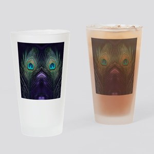 Royal Purple Peacock Drinking Glass