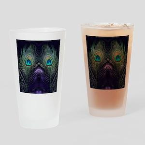 Royal Purple Peacock Drinking Glass