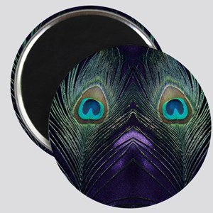 Royal Purple Peacock Magnet