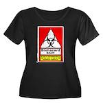 Biohazard Shirt Women's Plus Size Scoop Neck Dark