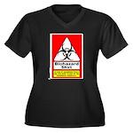 Biohazard Shirt Women's Plus Size V-Neck Dark T-Sh