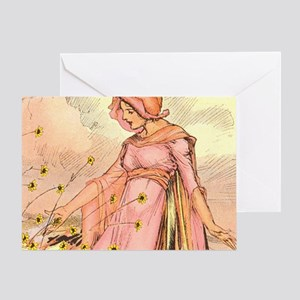Oz Ozga and the Flowers Greeting Card