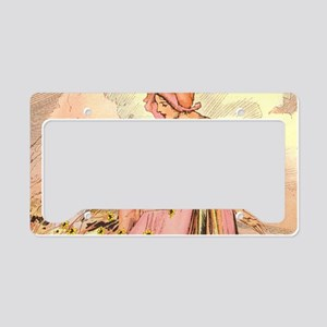 Oz Ozga and the Flowers License Plate Holder