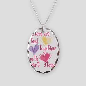 Sisters Necklace Oval Charm