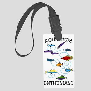 Aquarium Enthusiast Large Luggage Tag