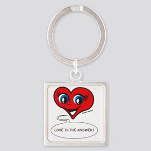 Love is the answer! Square Keychain