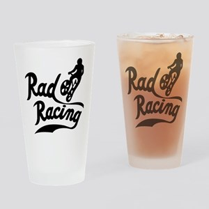 Rad Racing Drinking Glass