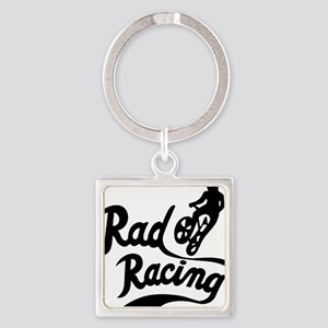 Rad Racing Square Keychain