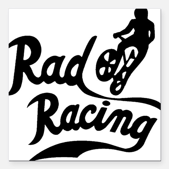 "Rad Racing Square Car Magnet 3"" x 3"""