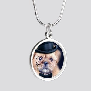 Dolce Dog Silver Round Necklace