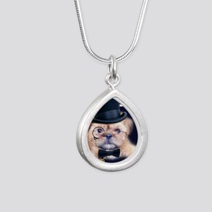 Dolce Dog Silver Teardrop Necklace