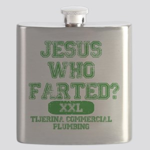 Jesus Who Farted Sports Front Flask