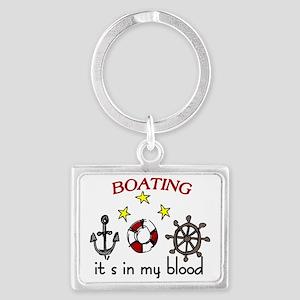 Boating Landscape Keychain