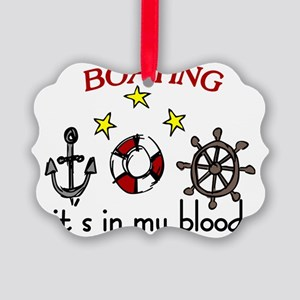 Boating Picture Ornament