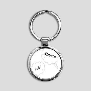 Marco Polo Twin Maternity Shirt Round Keychain