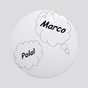 Marco Polo Twin Maternity Shirt Round Ornament