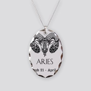 Aries Necklace Oval Charm