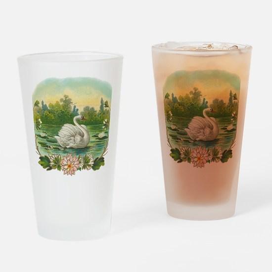 Swimming Swan Drinking Glass