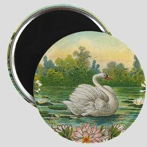 Swimming Swan Magnet
