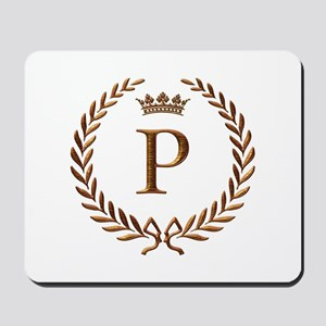 Napoleon initial letter P monogram Mousepad