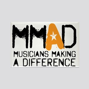 MMAD logo new Rectangle Magnet
