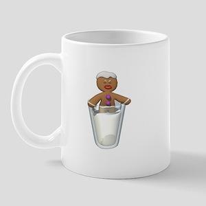 Gingerbread Man Dipped in Milk Mug