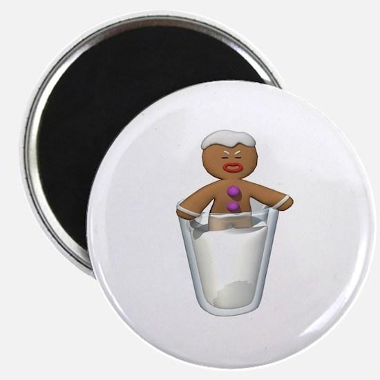 Gingerbread Man Dipped in Milk Magnet