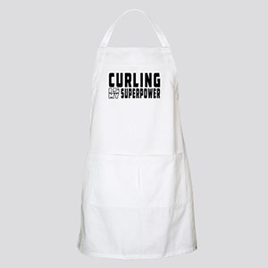 Curling Is My Superpower Apron