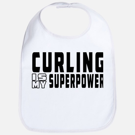 Curling Is My Superpower Bib