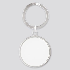 Sibling Rivalry - boy twins - white Round Keychain