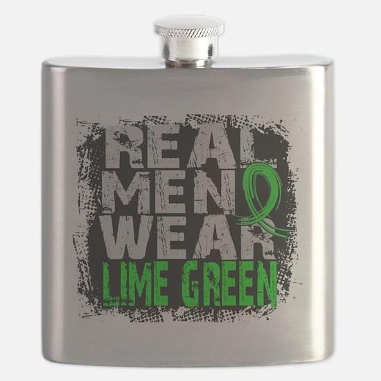 D Non-Hodgkins Lymphoma Real Men Wear Lime G Flask