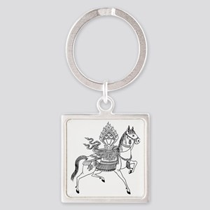 Wind Horse Square Keychain