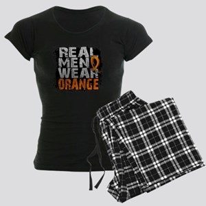 D MS Real Men Wear Orange Women's Dark Pajamas