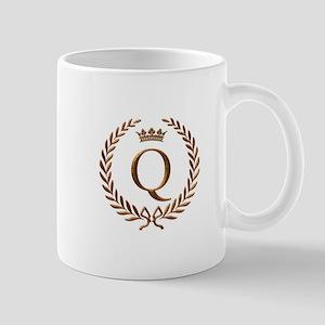 Napoleon initial letter Q monogram Mug