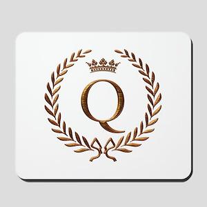 Napoleon initial letter Q monogram Mousepad
