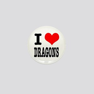 I Heart (Love) Dragons Mini Button