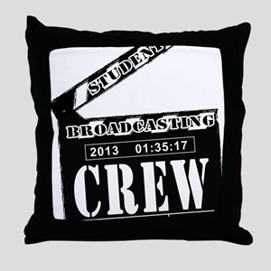 Broadcasting swag Throw Pillow