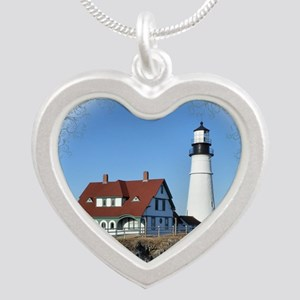 Portland Headlight Silver Heart Necklace