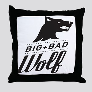surlalune_logo_black_wolf Throw Pillow
