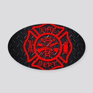 Generic Firefighter Custom License Oval Car Magnet