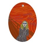 The Oh Susana! Scream Oval Ornament