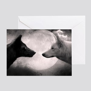 Black wolf greeting cards cafepress best selling wolf greeting card m4hsunfo