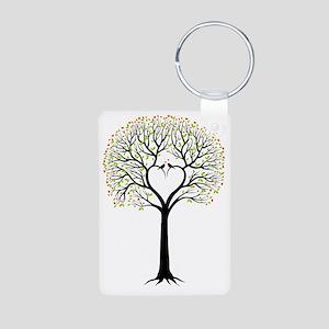 Love tree with heart branc Aluminum Photo Keychain
