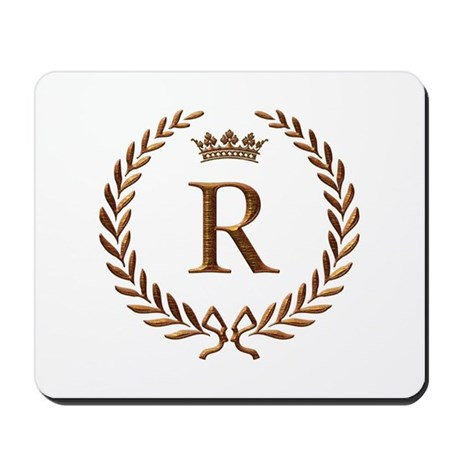 25 Anniversary Gift For Parents >> Napoleon initial letter R monogram Mousepad by jackthelads