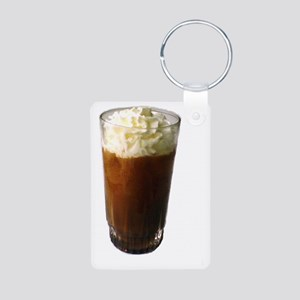 I Love Iced Coffee Whipped Aluminum Photo Keychain