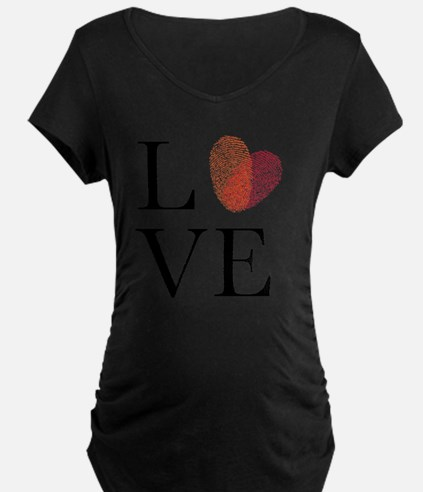 Love with red fingerprint h T-Shirt
